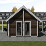 """Эскизный проект банного комплекса с жилыми помещениями """"4zone-X"""""""