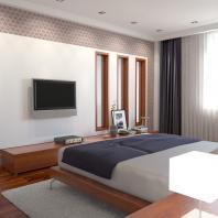 Проект интерьера 2-х уровневой квартиры. Спальня. АФ-студия. Архитектор Фаткин Иван. Новосибирск