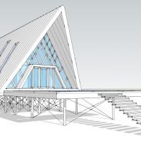 Концепция туристического модуля «Шалаш». Проектная мастерская АФ-студия. Архитектор Дмитрий Антонов