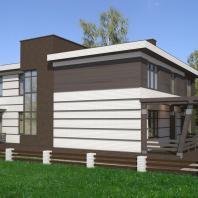 Одноквартирный жилой дом в Москве. Проектная организация: ООО «АПМ-Сайт», Новосибирск