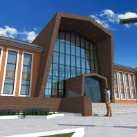 Эскизный проект сельского дома культуры в Ханты-Мансийском АО