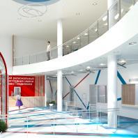 Проект здания фехтовального центра по ул. Воинская в Октябрьском районе г. Новосибирска. Проектная организация: «АкадемСтрой». Руководитель проекта: Турецкий Б.М. 2017 г.