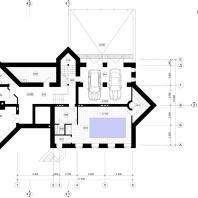 Коттедж в Центре семейного отдыха «Синегорье», г. Бердск. Архитекторы: Чаплыгин М.Ф. (ГАП), Косинов С.Ю. План цокольного этажа