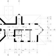 Коттедж в Центре семейного отдыха «Синегорье», г. Бердск. Архитекторы: Чаплыгин М.Ф. (ГАП), Косинов С.Ю. План 2-го этажа