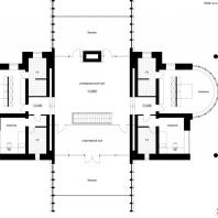 Концепция реконструкции коттеджа. План 2-го этажа. Архитектор: Сергей Косинов. Новосибирск