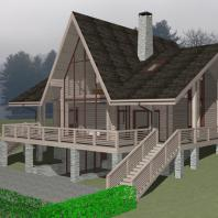 Эскизный проект деревянного жилого дома. Архитектор Сергей Косинов. Новосибирск