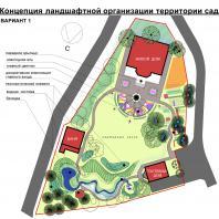 Концепция ландшафтной организации территории сада. Архитектор Сергей Косинов. Новосибирск. 2015 г.