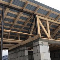 Строительство индивидуального жилого дома с баней и зоной барбекю в с. Озерное (Манжерок). 2018-2019 гг.