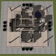 Проект банного комплекса «Синдэн». Архитектор: Сергей Косинов